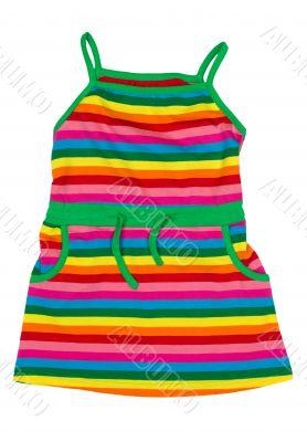 children`s striped sundress