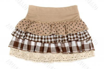 beige skirt with ruffles