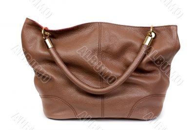 Nice and beautiful lady brown lady leather handbag