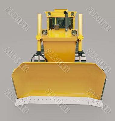 Heavy crawler bulldozer