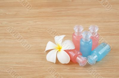 liquid soap, gel, shampoo, oil