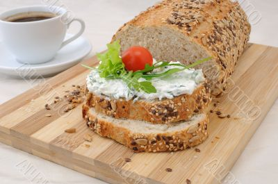 Sandwich with ricotta