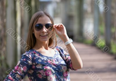 Gorgeous model in sunglasses