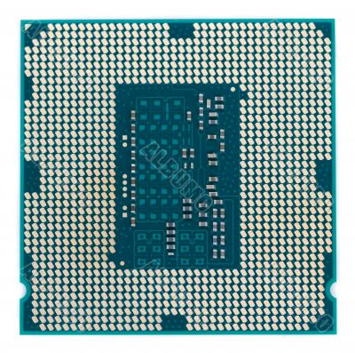 Close view of a computer cpu