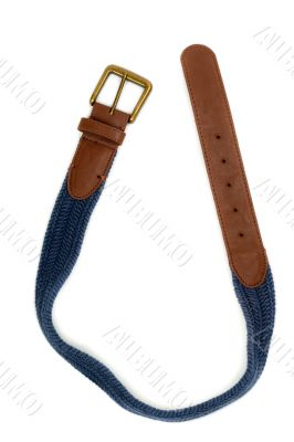 Combination of leather and fabric belt