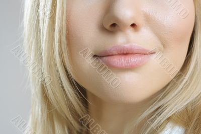 Close-up shot of woman lips
