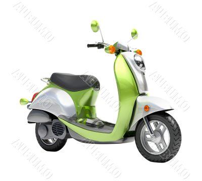 Trendy retro scooter close up