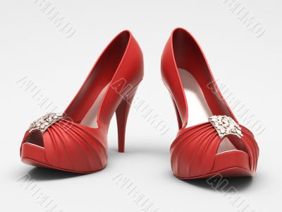 Women`s red shoes