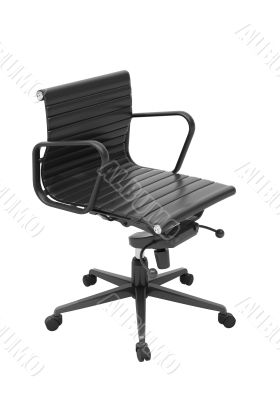Gray office chair isolated