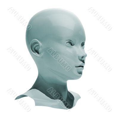 Android head isolated