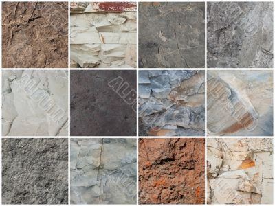 Set of textures stone