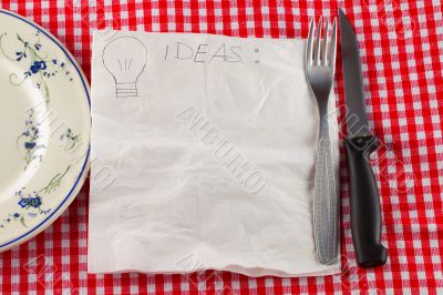 Napkin for ideas