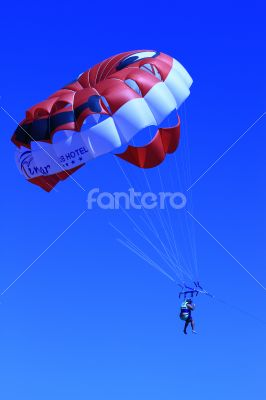 Parasailing Parachute in the sky