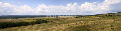 Panorama of Bulgarian fields