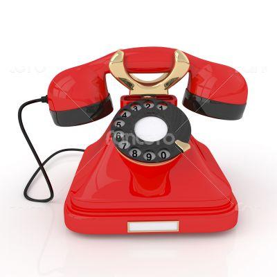 3d Retro phone.