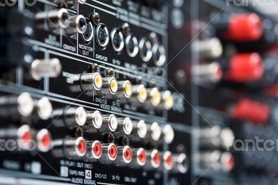 Hi-Tech AV receiver`s connectors