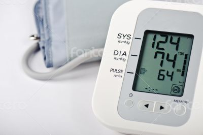 Closeup of Digital Blood Pressure Monitor