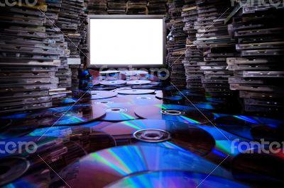 Huge piles original cd and dvd