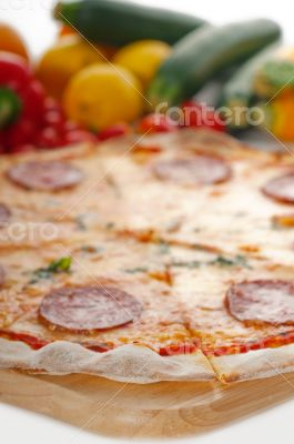 Italian original thin crust  pepperoni pizza