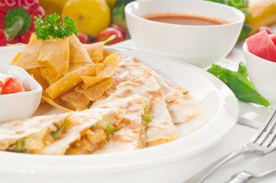 original Mexican quesadilla de pollo