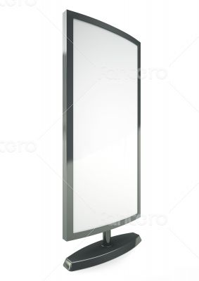 Blank vertical billboard 3D