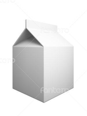 Milk box isolaned on white background