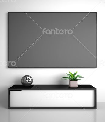 Part of modern interior with TV