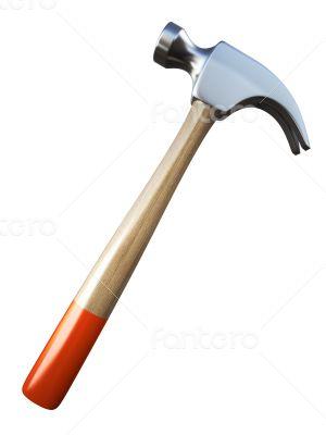 hammer on white background 3d Rendering