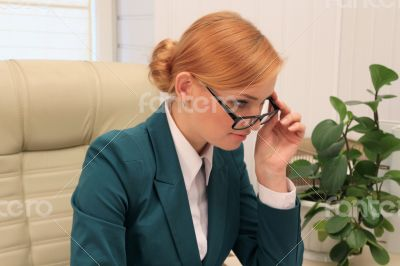 Elegance Businesswoman in Her Office