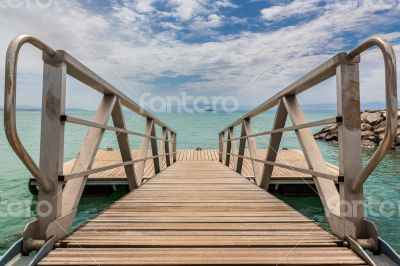 Deck on Red sea shore