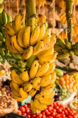Banana bunch at a local market
