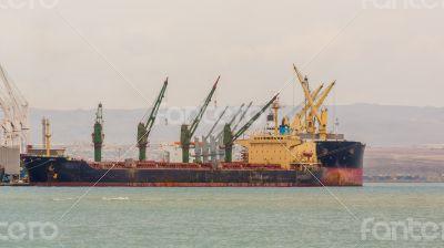 Ship on Djibouti port