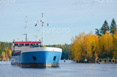 River Cargo Ship