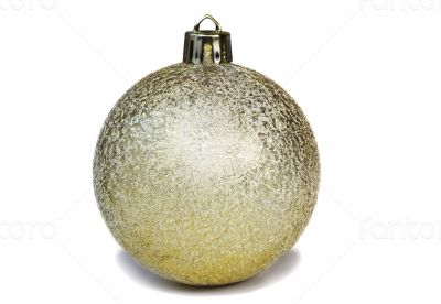 Decoration for the Christmas tree - white ball.