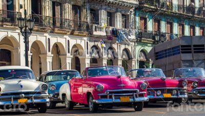 Caribbean Cuba Havana classic cars in series