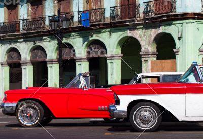 Caribbean Cuba Oldtimer parked in Havana