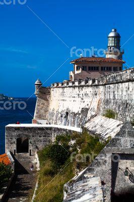 Caribbean Cuba  fortress near Havana