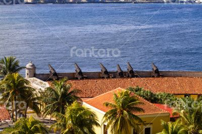 Caribbean Cuba Havana fortress with cannon