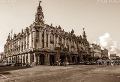 Caribbean Cuba Havana National Theater