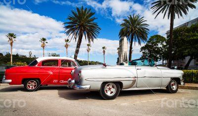 Caribbean Cuba Oldtimer on the promenade