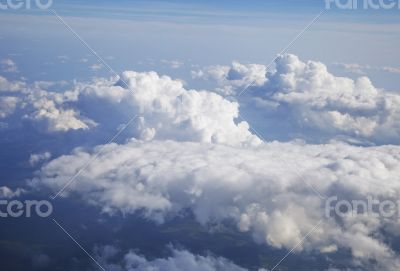Clouds, view from airplane