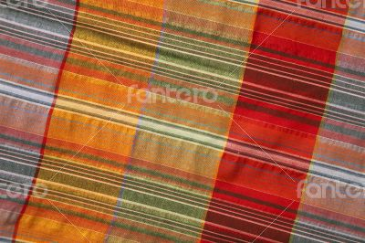 Multicoloured fabric with geometric pattern