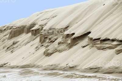 Sand riverbank