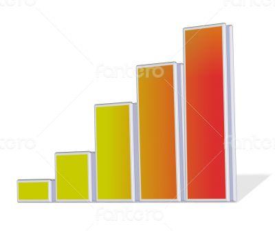 Chart logo branding design