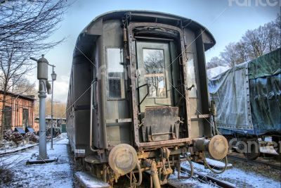 Old disused railway carriage