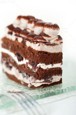 whipped cream dessert cake slice
