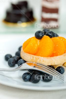 blueberry cream cupcake