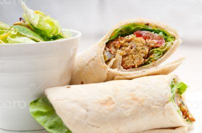 falafel pita bread roll wrap sandwich