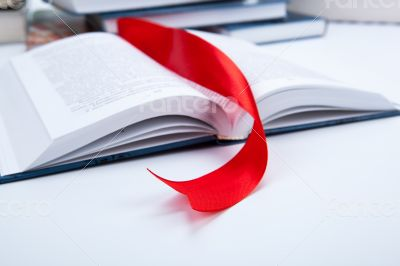 open book whith red bookmark
