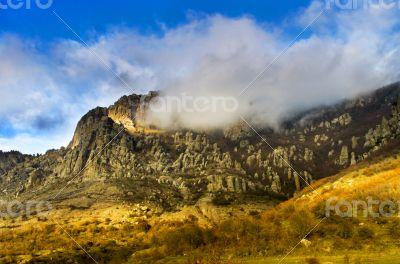 Autumn mountain. Demerdji, Crimea, Ukraine